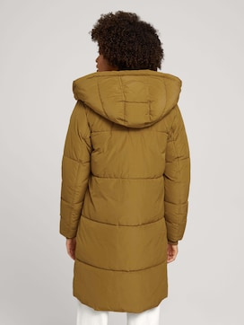 quilted coat with a hood - 2 - Mine to five