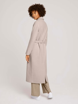 Wool coat with a belt - 2 - Mine to five