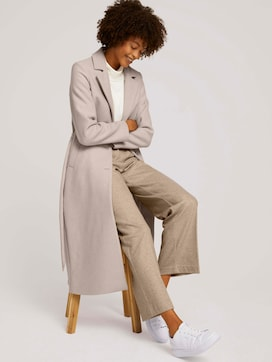 Wool coat with a belt - 5 - Mine to five