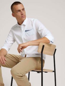 Slim Fit Hemd mit Brusttasche - 5 - TOM TAILOR
