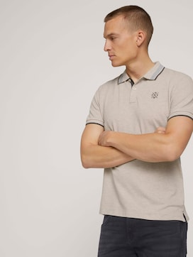 Polo shirt with collar details - 5 - TOM TAILOR