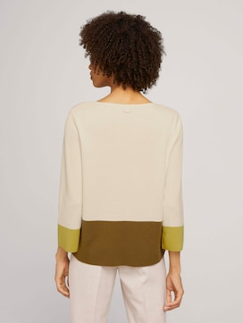 Sweater with colour blocking - 2 - Mine to five
