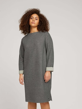 Plus - Jersey Kleid mit 3/4 Ärmeln - 5 - My True Me