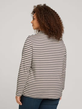 Curvy - long-sleeved shirt with a short stand-up collar - 2 - My True Me