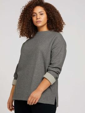 Plus - Sweatshirt mit Kragen - 5 - My True Me