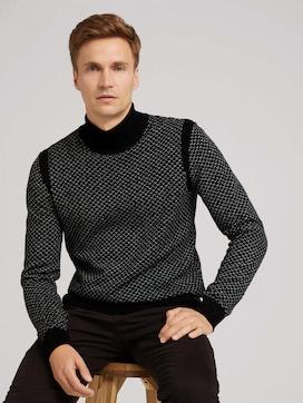 Gedessineerde trui met opstaande kraag - 5 - TOM TAILOR