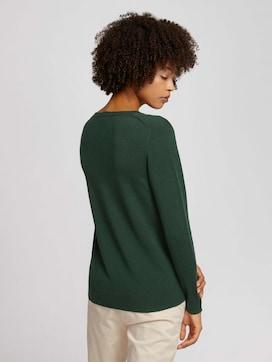 Basic sweater with a V-neckline - 2 - TOM TAILOR