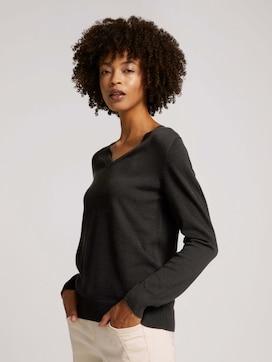 Basic Pullover mit V-Ausschnitt - 5 - TOM TAILOR