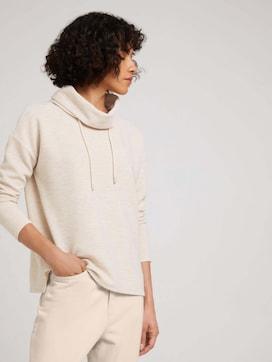 Strukturiertes Sweatshirt mit Rollkragen - 5 - TOM TAILOR