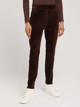 Stoffen broek met elastische tailleband - 1 - TOM TAILOR