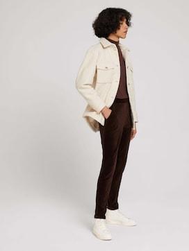 Stoffen broek met elastische tailleband - 3 - TOM TAILOR