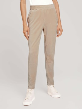 Fabric trousers with an elastic waistband - 1 - TOM TAILOR