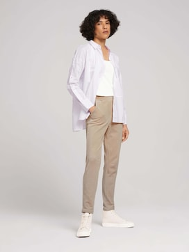 Fabric trousers with an elastic waistband - 3 - TOM TAILOR