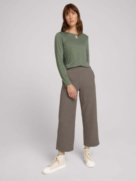 Cropped fabric trousers - 3 - TOM TAILOR