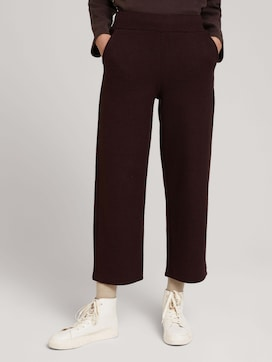 Cropped fabric trousers - 1 - TOM TAILOR