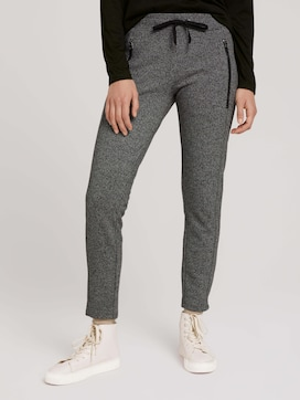 Loose-fit patterned trousers - 1 - TOM TAILOR