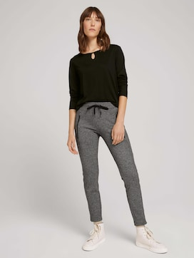 Loose-fit patterned trousers - 3 - TOM TAILOR