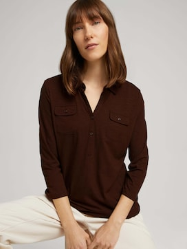 Henley shirt with chest pockets - 5 - TOM TAILOR