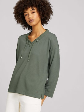 Loose Fit Shirt mit Tunnelzug - 5 - TOM TAILOR