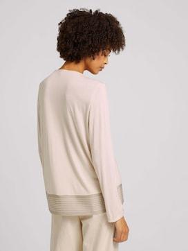 7/8 Shirt im Materialmix - 2 - TOM TAILOR