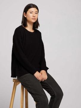 Sweatshirt met zijsplitten - 5 - TOM TAILOR