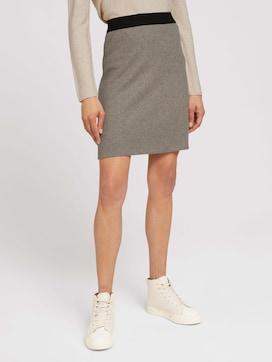 Melange jersey skirt - 1 - TOM TAILOR