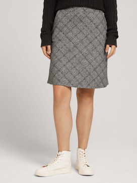 Soft skirt with a checked pattern - 1 - TOM TAILOR