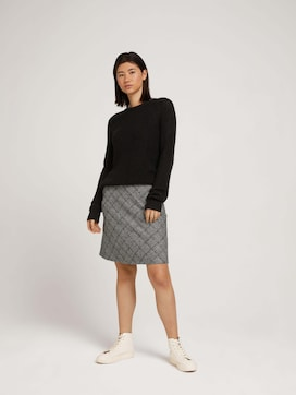 Soft skirt with a checked pattern - 3 - TOM TAILOR