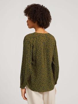 Patterned Henley blouse - 2 - TOM TAILOR