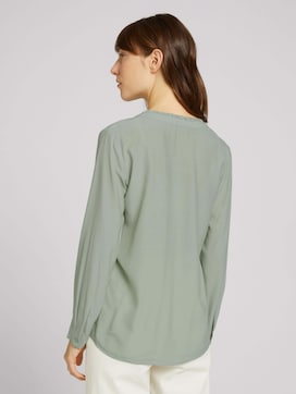 Blouse with pleats - 2 - TOM TAILOR