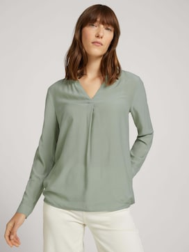 Blouse with pleats - 5 - TOM TAILOR