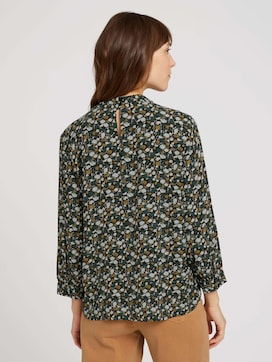 Stand-up collar blouse with LENZING(TM) ECOVERO(TM) - 2 - TOM TAILOR