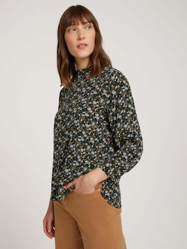 Stand-up collar blouse with LENZING(TM) ECOVERO(TM) - 5 - TOM TAILOR