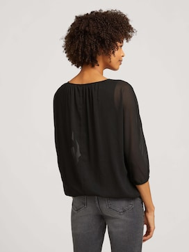 Loose-fit chiffon blouse - 2 - TOM TAILOR