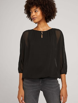 Loose-fit chiffon blouse - 5 - TOM TAILOR