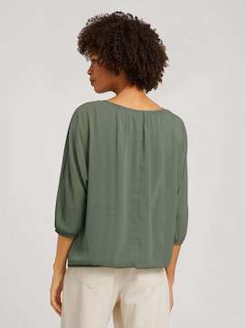 Loose Fit Chiffon Bluse - 2 - TOM TAILOR