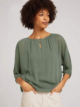 Loose Fit Chiffon Bluse - 5 - TOM TAILOR