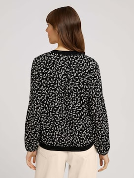 Patterned blouse with ribbed cuffs - 2 - TOM TAILOR