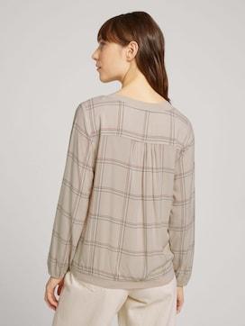 Gedessineerde blouse met geribde manchetten - 2 - TOM TAILOR