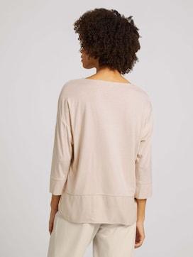 Shirt im Materialmix mit TENCEL(TM) Modal - 2 - TOM TAILOR