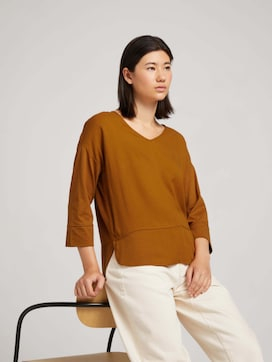 Shirt in a material mix with TENCEL(TM) Modal - 5 - TOM TAILOR