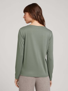 Long-sleeved shirt with knot details - 2 - TOM TAILOR