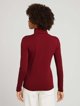 Turtleneck shirt with modal - 2 - Mine to five