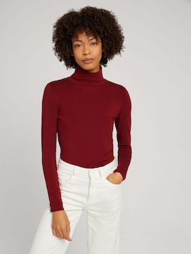 Turtleneck shirt with modal - 5 - Mine to five