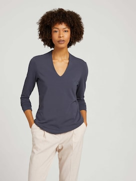 Modal long-sleeved shirt with a V-neckline - 5 - Mine to five