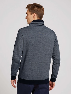 Sweatshirt mit Stehkragen und Kordelzug - 2 - TOM TAILOR