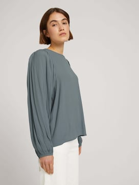 Blouse with balloon sleeves - 5 - TOM TAILOR Denim