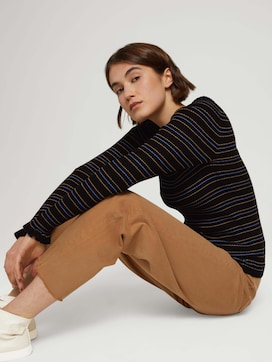 Gerippter Pullover aus nachhaltiger Viskose - 5 - TOM TAILOR Denim