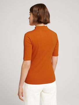 T-shirt with a stand-up collar made of sustainable cotton - 2 - TOM TAILOR Denim