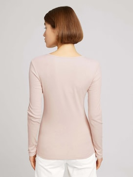 Long-sleeved shirt with a V-neckline made of sustainable cotton - 2 - TOM TAILOR Denim